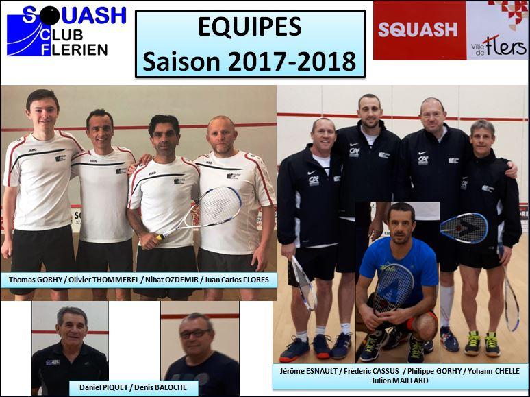 EQUIPES Saison 2017-2018