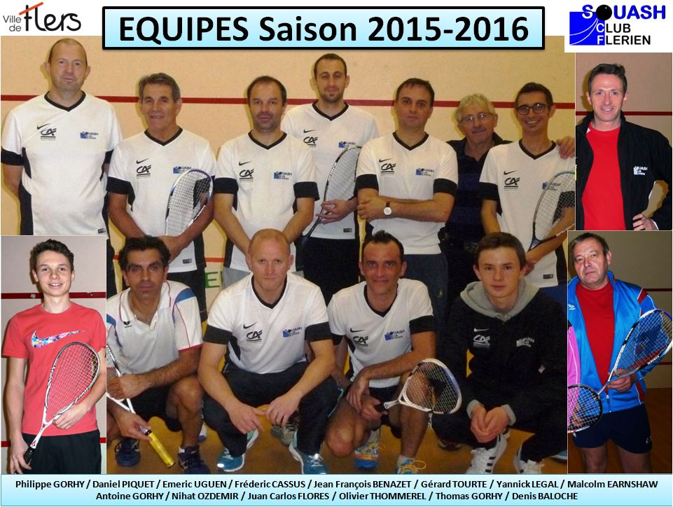 Equipes Flers 2015-2016